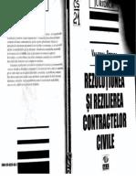 Rezolutiunea Si Rezilierea Contractelor Civile