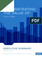 Lincoln College Economic Contribution Report 2014