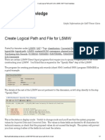 Create Logical Path and File for LSMW _ SAP Tribal Knowledge