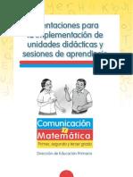 1. cartilla Orientaciones para la implementación de Unidades didácticas y Sesiones de Aprendizaje