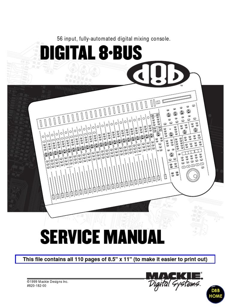 mackie d8b service notes small bios booting rh scribd com Owner's Manual mackie 8 bus service manual pdf