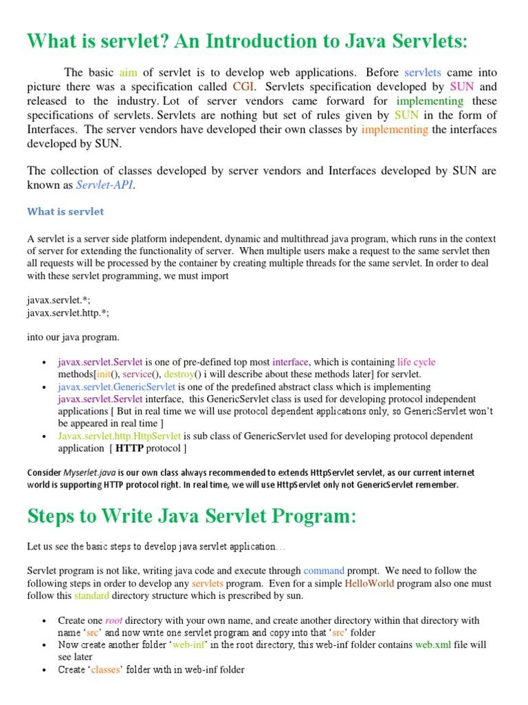 Serv let java servlet java programming language baditri Gallery