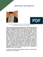 Părintele Ioan de la Sihăstria Rarăului - Lumea monahilor nr. 80, februarie 2014