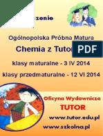 """Ogólnopolska Próbna Matura """"Chemia z Tutorem"""""""