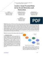An Interactive visual Textual Data
