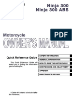 Kawasaki Ninja 300 ABS Owners Manual Australia