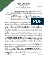 S Mozart - 12 variazioni su La bergere Silimene