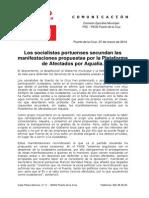 Los socialistas portuenses secundan las manifestaciones propuestas por la Plataforma de Afectados por Aqualia