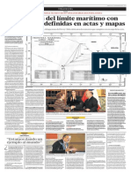 Coordenadas del límite marítimo con Chile fueron definidas en actas y mapas