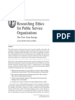 .Researching Ethics for Public Service Org