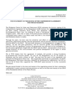 PCID Statement on the Signing of the Comprehensive Agreement on the Bangsamoro