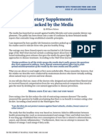Dietary Supplements Attacked by Media