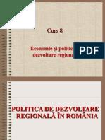Politica de Dezvoltare Regionala in Romania