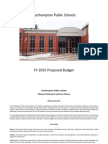 Fy 2015 Proposed Budget