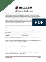 Miller Job Application (NON-driver)