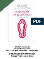 Dimensões da Radiônica - Novas Técnicas de Cura.David V. Tansley