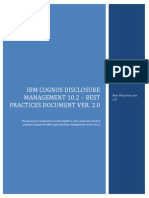 Cognos Disclosure Management 10.2 - Best Practice Document Jan 08 2013