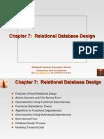7. Relational Database Design