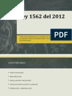 Ley 1562 Del 2012 - Presentacion