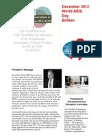 paswha newsletter- 4th quarter 2012