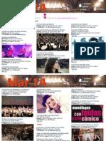 Agenda Cultural MAR Del 26 de Marzo Al 1 de Abril TFE