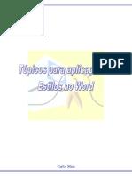 FORMAÇÃO - Estilos e índices No Word