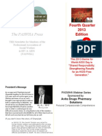 paswha newsletter - world aids day 2013 edition