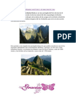 El Santuario Historico de Machu Picchu