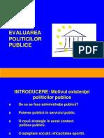 Cursul 10 Continuare Evaluarea Politicilor