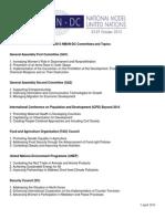 2013 Dc Committee Topics