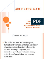 Life Table Approach (2)