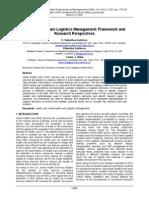 Home Health Care Logistics Management Framework And