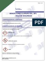 Benzalconio Cloruro Sol. 80% - Msds