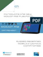 Motion R12 Rugged Tablet PC Datasheet