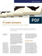 IT Under Pressure McKinsey Global Survey Results