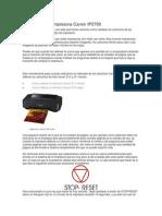 Como Resetear Impresora Canon IP2700