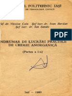 Calu Nicolae Indrumar de Lucrari Practice de Chimie Anorganica I