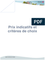 Prix Indicatifs
