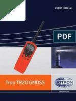 Tron bærbar VHF Users manual TR20 GMDSS
