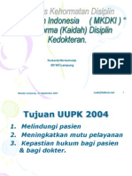 A) Mkdki Dan Disiplin Seminar Lampung Dr Ruskandi m