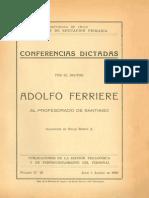 Adolfo Ferriere_Conferencias Chile 1930