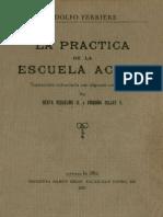 Adolfo Ferriere_La práctica de la escuela activa_1928