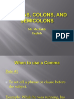 commas colons and semicolons