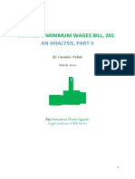 Minimum Wages Bill, 2013 Analysis, Part II