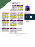 NAL Schedule