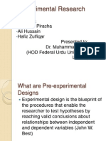 Experimental Research- Research Design