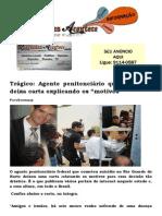 """Trágico Agente penitenciário que se matou deixa carta explicando os """"motivos"""""""