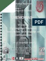 """Artículo """"Método RC4 para la Encriptación y Desencriptación de información aplicado a Wired Equivalent Protection"""" en las Memorias del VI Cliclo y 2º Congreso Nacional Tendencias en Computación 2006, del Centro de Innovación y Desarrollo Tecnológico en Cómputo, del Instituto Politécnico Nacional"""