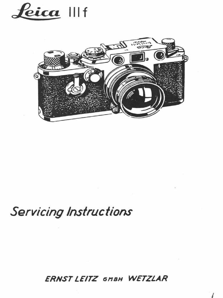 Leica Iiif Service Manual