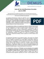 El Archivamiento de Las Esterilizaciones Forzadas Ante La CIDH